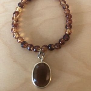 Brown Bracelet with Brown Pendant